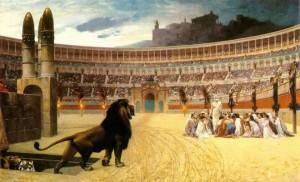 ранние христиане в колизее